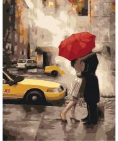 Картина по номерам Под зонтом счастья 40 х 50 см (KHO2657)