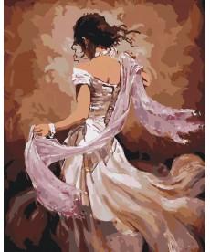 Картина по номерам Танцовщица в белом платье 40 х 50 см (KHO2682)