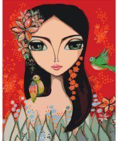 Картина по номерам Яркая девочка 40 х 50 см (KHO2685)