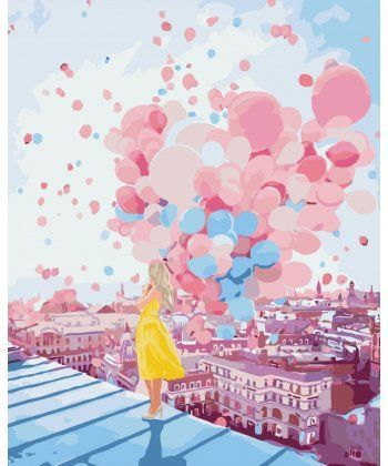Картина по номерам Рассвет над крышами Парижа 40 х 50 см (KHO2697)  - Фото 1