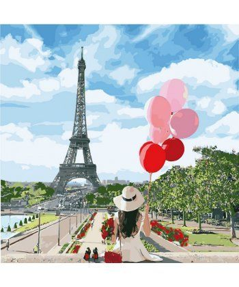 Картина по номерам Утро в Париже 40 х 40 см (KHO2699)