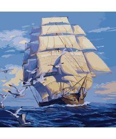 Картина по номерам На всех парусах 40 х 40 см (KHO2708)