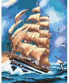 Картина по номерам Парусник АмеригоВеспучи 40 х 50 см (KHO2712)
