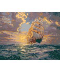 Картина по номерам Рассвет под парусами 40 х 50 см (KHO2715)