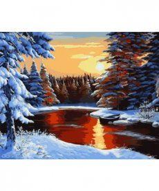 Картина по номерам Зимний вечер 40 х 50 см (KHO2818)