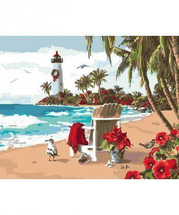 Картина по номерам Испанский залив 40 х 50 см (KHO2825)