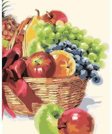 Картина по номерам Корзинка фруктов 40 х 50 см (KHO2910)