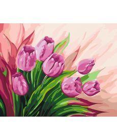 Картина по номерам Персидские тюльпаны 40 х 50 см (KHO2924)