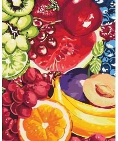 Картина по номерам Аппетитные фрукты 40 х 50 см (KHO2937)