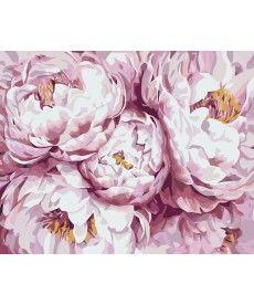 Картина по номерам Нежно-розовые пионы 40 х 50 см (KHO3013)