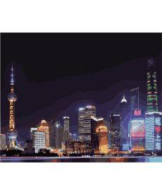 Картина по номерам Ночной Шанхай 40 х 50 см (KHO3507)