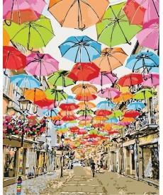 Картина по номерам Улица парящих зонтиков 40 х 50 см (KHO3508)