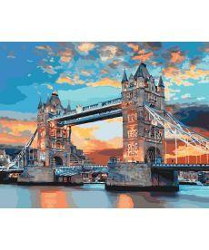 Картина по номерам Лондонский мост на рассвете 40 х 50 см (KHO3515)
