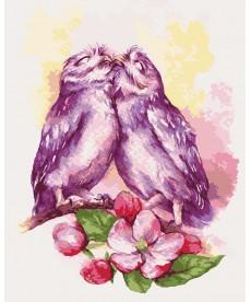 Картина по номерам Влюбленные совушки 40 х 50 см (KHO4034)