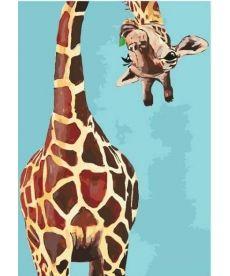 Картина по номерам Забавный жираф 35 х 50 см (KHO4061)