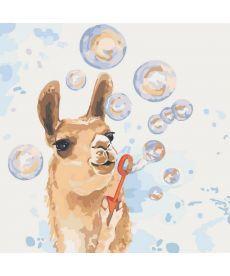 Картина по номерам Мыльные пузыри 40 х 40 см (KHO4064)