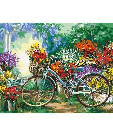 Картина по номерам Цветочный рынок 40 х 50 см (KHO5517)