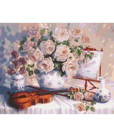 Картина по номерам Пастельные розы 40 х 50 см (KHO5518)