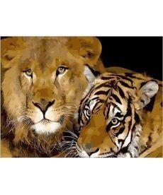 Картина по номерам Хищные кошки 40 х 50 см (MR-Q002)