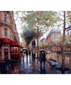 Картина по номерам Дождливый день 40 х 50 см (MR-Q100)