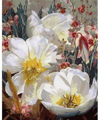 Картина по номерам Белоснежные кувшинки 40 х 50 см (MR-Q1059)