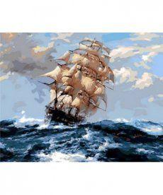 Картина по номерам На всех парусах 40 х 50 см (MR-Q1069)