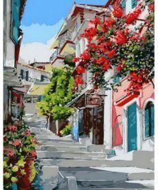 Картина по номерам Цветочная улица 40 х 50 см (MR-Q1130)
