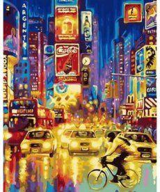 Картина по номерам Огни большого города 40 х 50 см (MR-Q1147)
