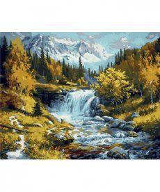 Картина по номерам Горная речка 40 х 50 см (MR-Q1217)