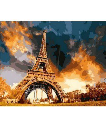 Картина по номерам Закат над Парижем 40 х 50 см (MR-Q1224)