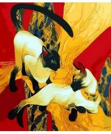 Картина по номерам Сиамские кошки 40 х 50 см (MR-Q1278)