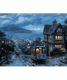 Картина по номерам Ночной трамвай 40 х 50 см (MR-Q1306)