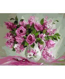 Картина по номерам Розовая нежность 40 х 50 см (MR-Q1368)