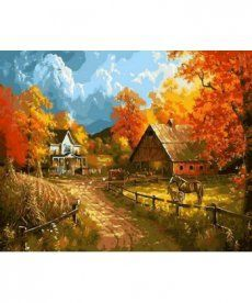 Картина по номерам Сельский пейзаж 40 х 50 см (MR-Q1399)