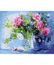 Картина по номерам Небесно-розовый букет 40 х 50 см (MR-Q1440)