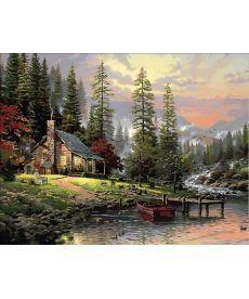 Картина по номерам Охотничьей домик 40 х 50 см (MR-Q1441)