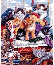 Картина по номерам Озорные котята 40 х 50 см (MR-Q1764)