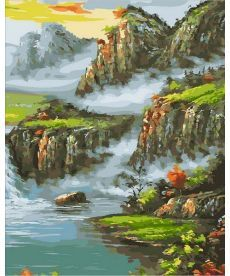Картина по номерам Страна водопадов 40 х 50 см (MR-Q1857)