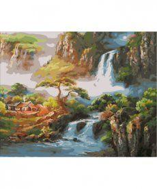 Картина по номерам Китайская деревушка 40 х 50 см (MR-Q1864)
