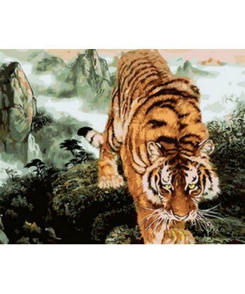 Картина по номерам Крадущийся тигр 40 х 50 см (MR-Q1887)