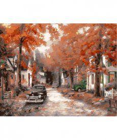 Картина по номерам Осень на кленовой улице 40 х 50 см (MR-Q2085)
