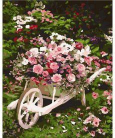 Картина по номерам Розовый куст 40 х 50 см (MR-Q2086)