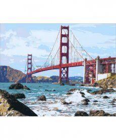 Картина по номерам Мост Золотые Ворота 40 х 50 см (MR-Q2095)