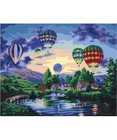 Картина по номерам Воздушные шары в сумерках 40 х 50 см (MR-Q2099)