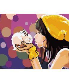 Картина по номерам Девочка с кроликом 40 х 50 см (MR-Q2105)