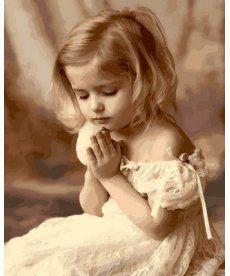 Картина по номерам Молитва ребенка 40 х 50 см (MR-Q2107)