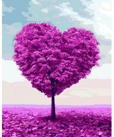 Картина по номерам Дерево любви 40 х 50 см (MR-Q2109)