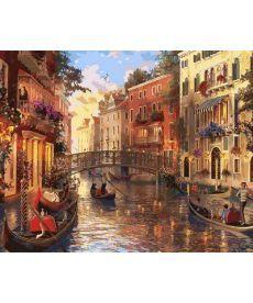 Картина по номерам Закат в Венеции 40 х 50 см (MR-Q2115)