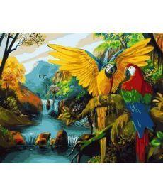 Картина по номерам Водопады Бразилии 40 х 50 см (MR-Q2121)