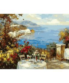 Картина по номерам Завтрак на терассе 40 х 50 см (MR-Q2135)